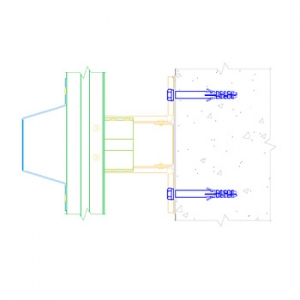 Комплект межэтажной вертикально-горизонтальной системы с направляющей ПШ