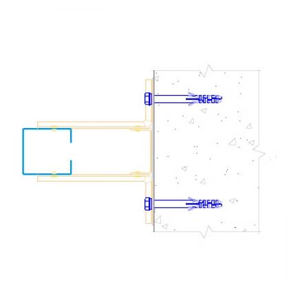 Комплект межэтажной вертикальной фасадной системы на основе профиля ПО1