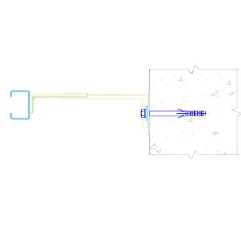 Комплект вертикальной системы на С-профиле