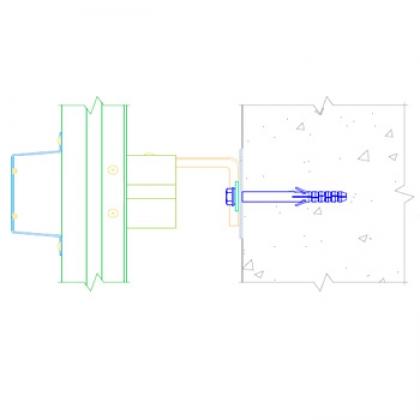 Комплект усиленной вертикально-горизонтальной системы с направляющей ПШ