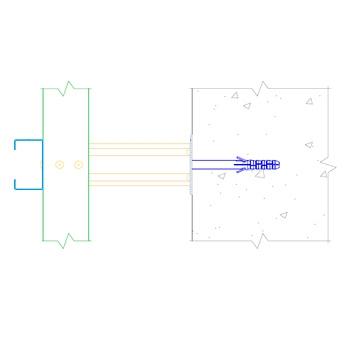 Комплект вертикально-горизонтальной системы на С-профиле