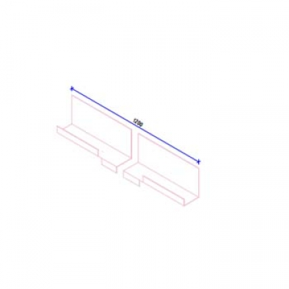 Кляммер НК рядный (17 и 22 мм) AISI430 t=1,5 мм