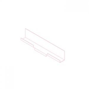 Шина НК рядная (17 и 22 мм) AISI430 t=1,5 мм L=1200 мм
