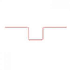 Декоративная планка вертикального шва