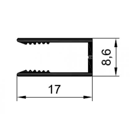 Профиль средний 3 + 3 мм PDP-1026