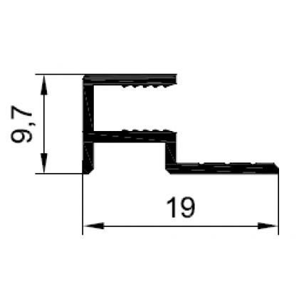 Профиль стартовый 4 мм. PDP-1032