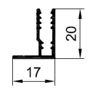 Профиль F-образный 4 мм/3 мм PDV-1035