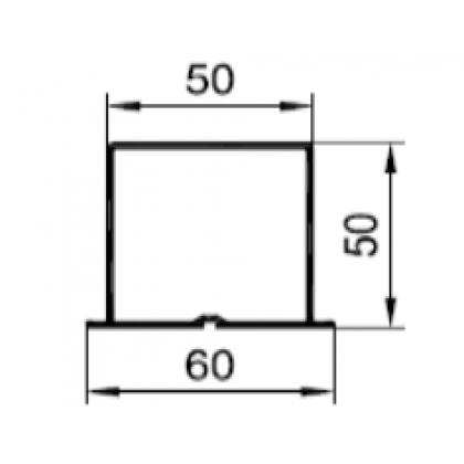 H-профиль 60х50х2,2 PDV-1042