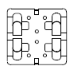 Кляммер рядовой с AISI 430 Doksal 1,0 мм. KDK-151