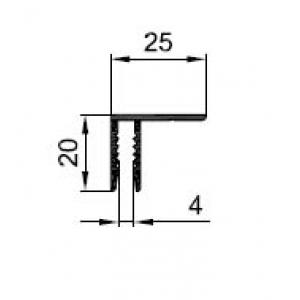 F-профиль для композита 4 мм